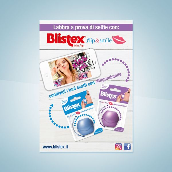 Campagna stampa Blistex Flip&Smile