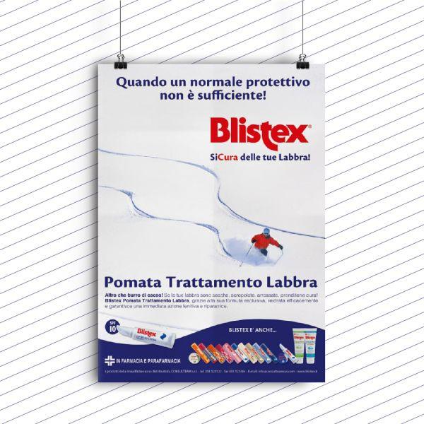Campagna stampa Blistex pomata trattamento labbra