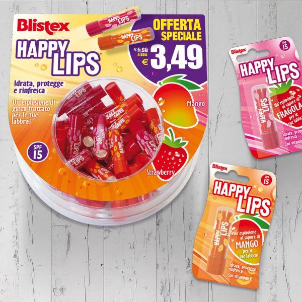 Espositore bolla Blistex Happy Lips