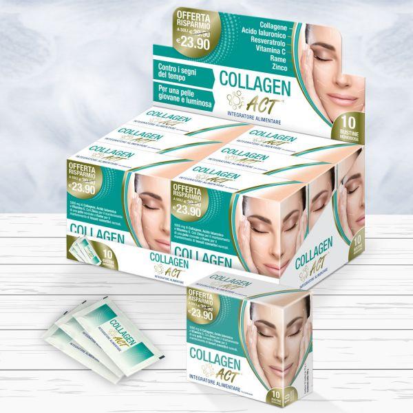Packaging ed espositore da banco Collagen Act