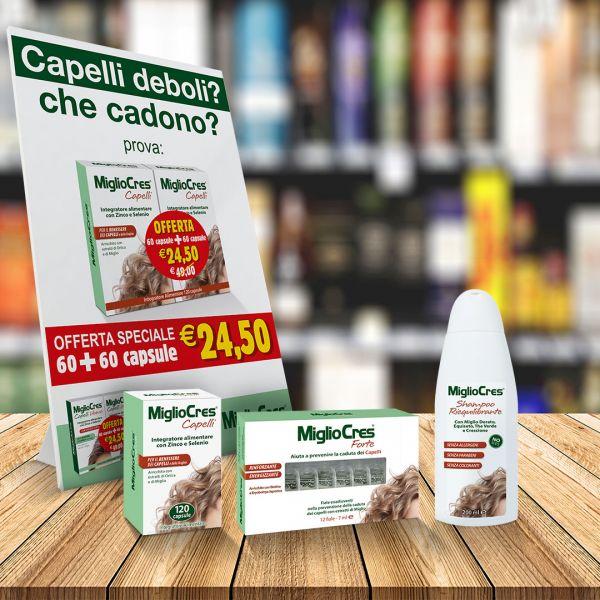 Packaging prodotti per capelli Migliocres