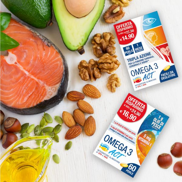 Packaging integratori Omega 3 Act