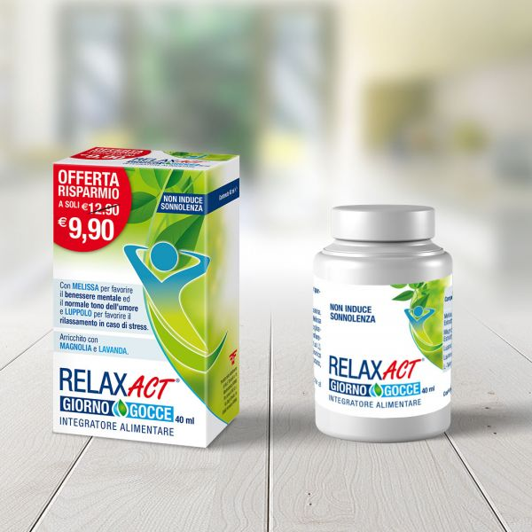 Packaging integratore Relax Act
